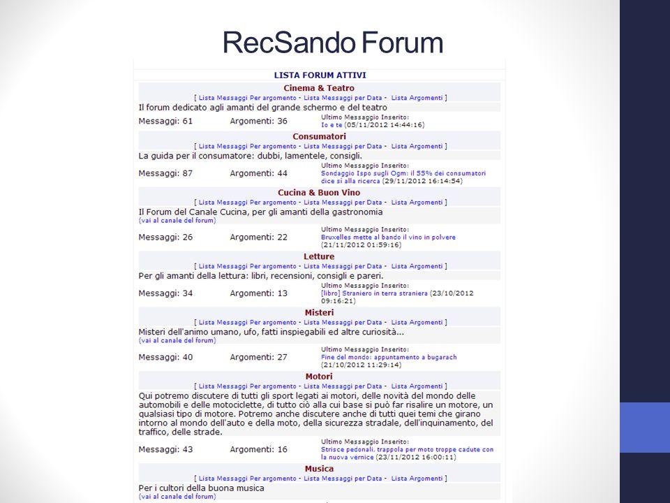 RecSando Forum