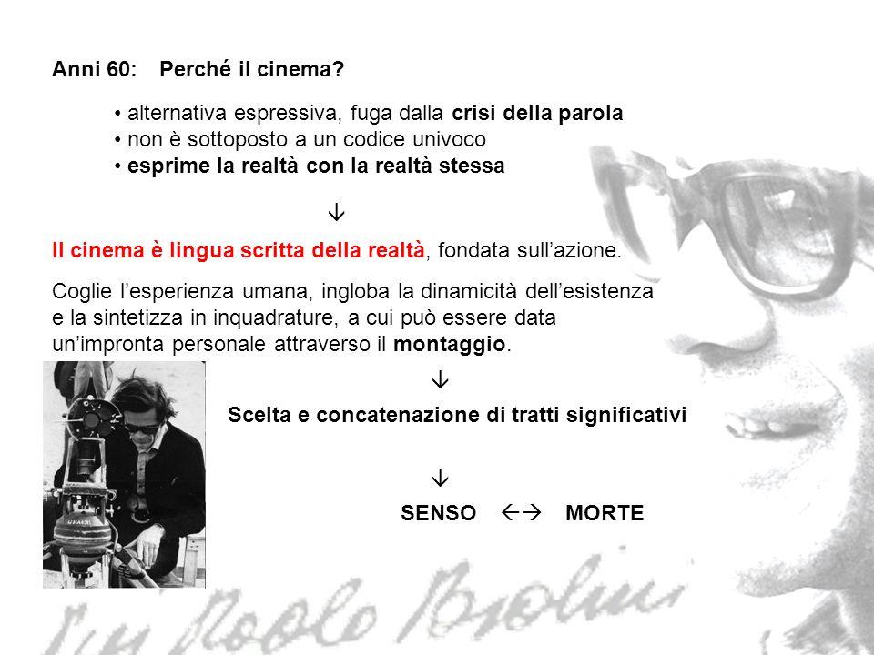 Il cinema di Pasolini: è digiuno di tecnica cinematografica nessuna struttura tecnica, solo poetica.