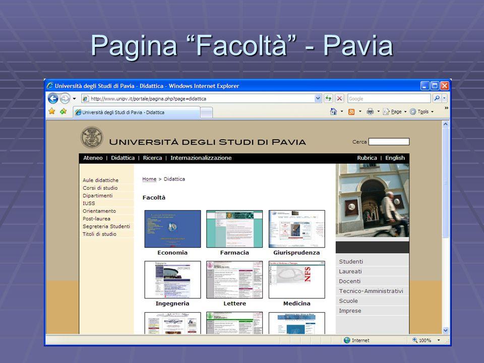 Pagina Facoltà - Pavia