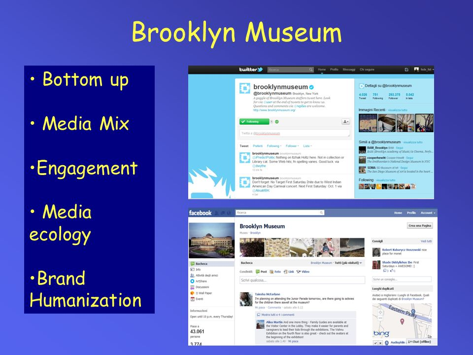 Brooklyn Museum Bottom up Media Mix Engagement Media ecology Brand Humanization