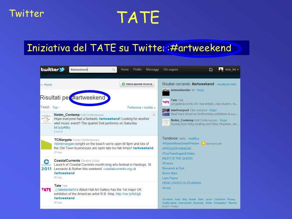 TATE Iniziativa del TATE su Twitter:#artweekend Twitter
