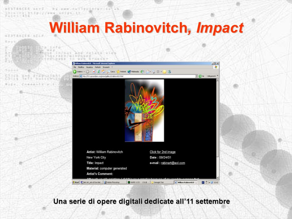William Rabinovitch, Impact Una serie di opere digitali dedicate all11 settembre