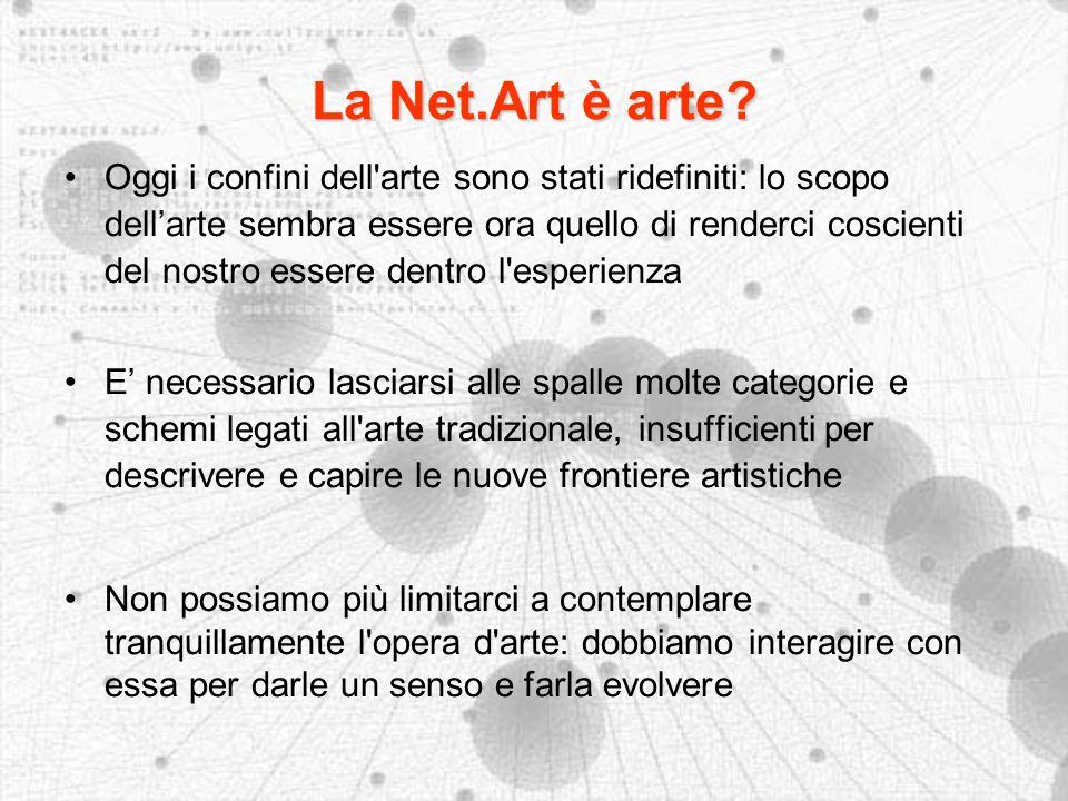La Net.Art è arte.