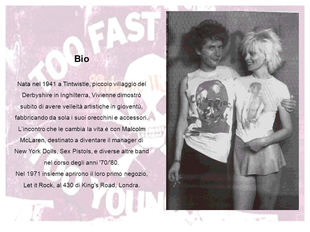 Negli anni 70 Vivienne Weswtood contribuì a creare lo stile punk, con creazioni stravaganti e provocatorie.