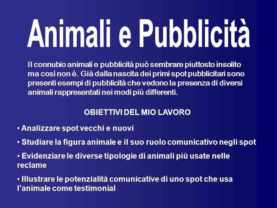 Il connubio animali e pubblicità può sembrare piuttosto insolito ma così non è. Già dalla nascita dei primi spot pubblicitari sono presenti esempi di
