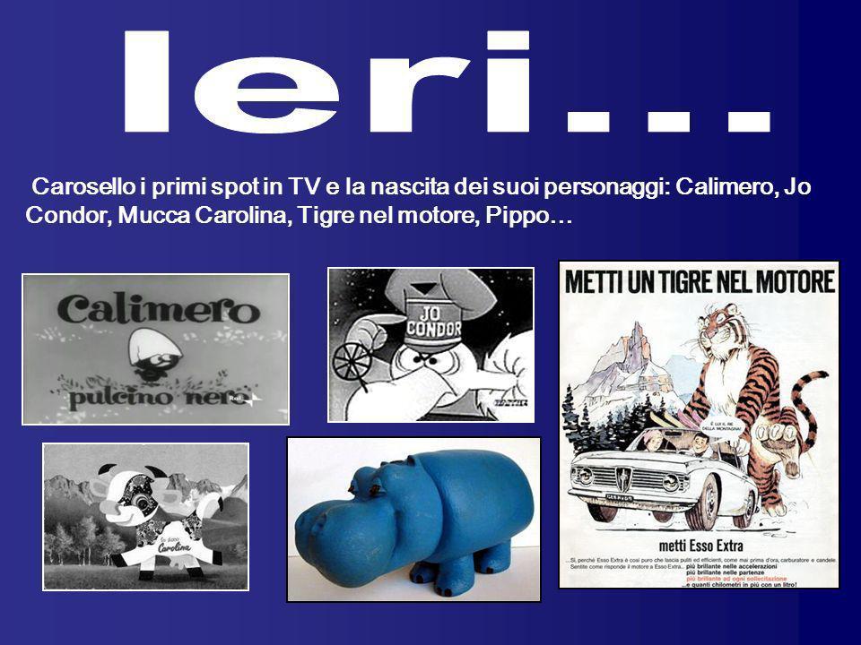 Carosello i primi spot in TV e la nascita dei suoi personaggi: Calimero, Jo Condor, Mucca Carolina, Tigre nel motore, Pippo…