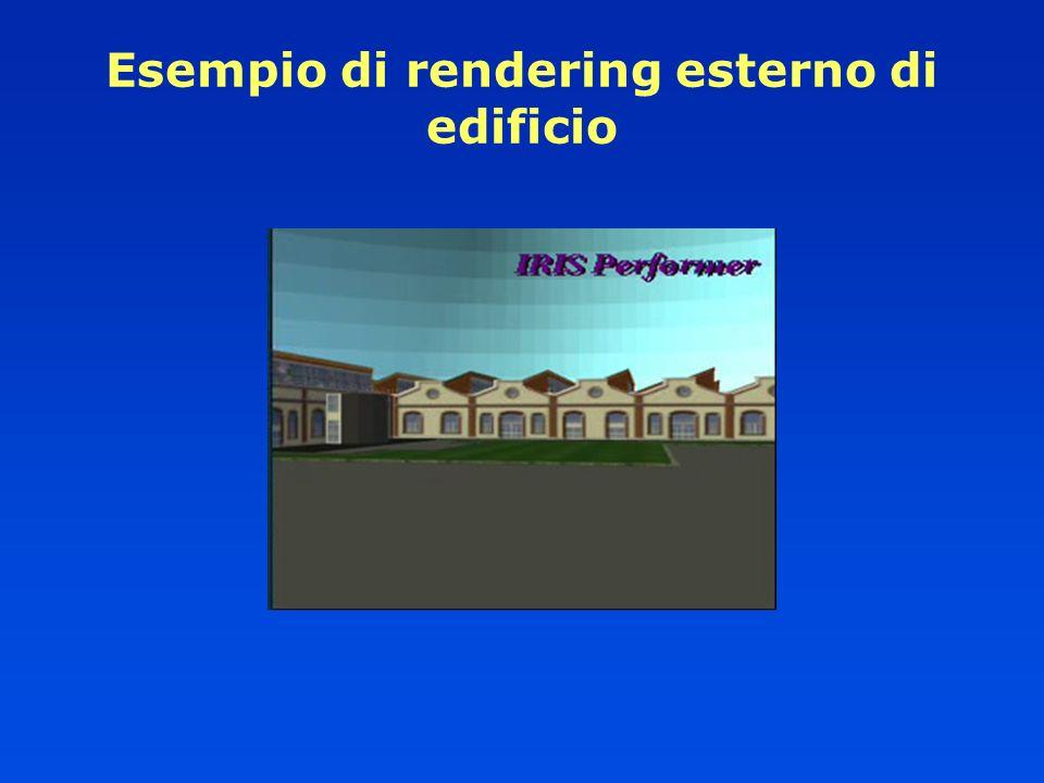 Esempio di rendering esterno di edificio