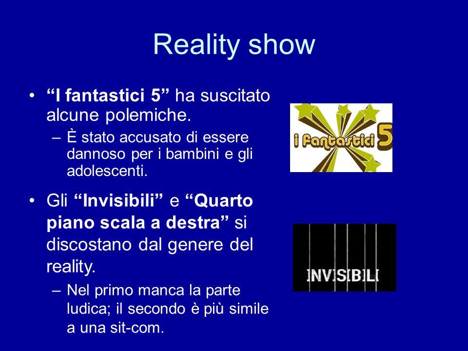 Reality show I fantastici 5 ha suscitato alcune polemiche. –È stato accusato di essere dannoso per i bambini e gli adolescenti. Gli Invisibili e Quart