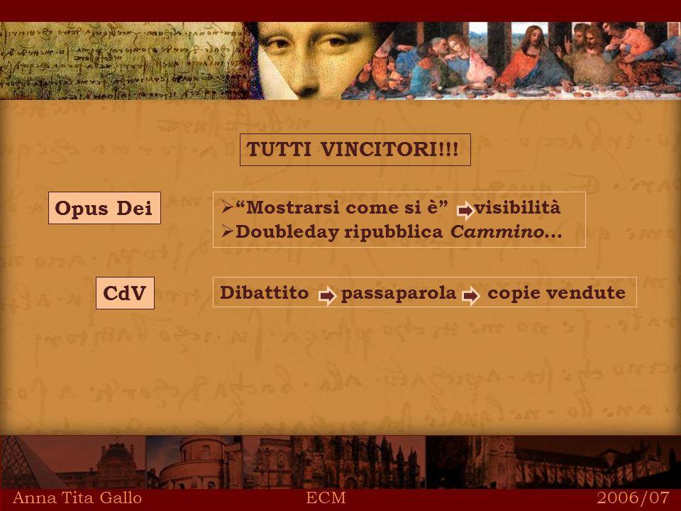 Anna Tita Gallo ECM 2006/07 TUTTI VINCITORI!!.