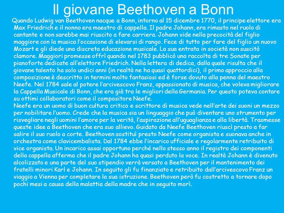 Una famiglia amica: i Breuning Le amicizie di Beethoven saranno sempre a senso unico, in cui lui chiederà sempre molto dando in cambio ben poco.