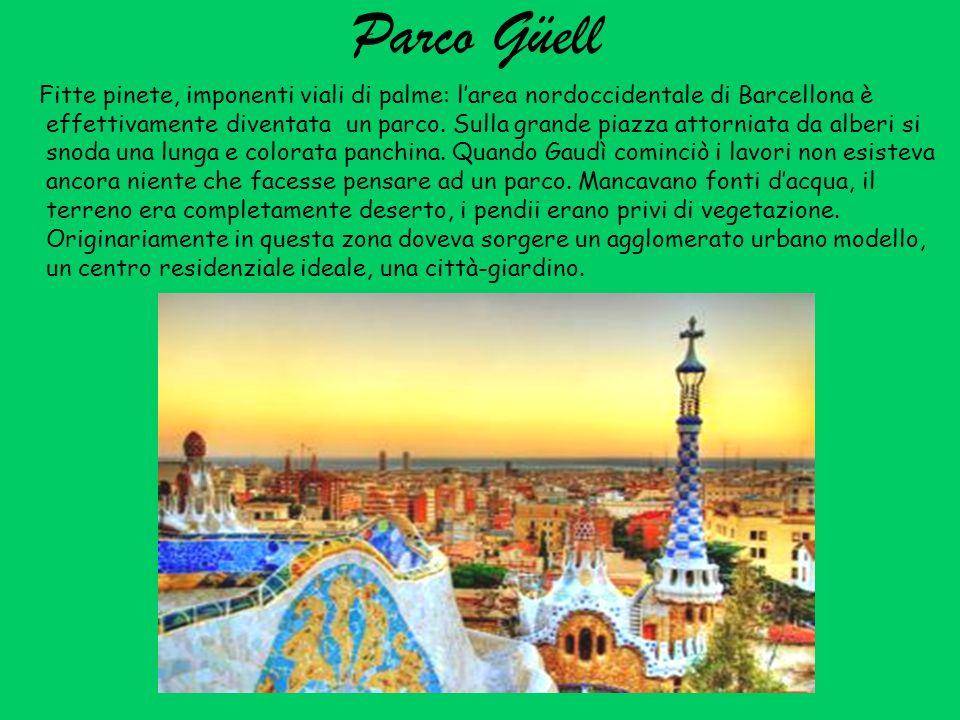 La storia di Parco Güell Gaudì trasse spunto per questo progetto dai suoi viaggi a allestero.