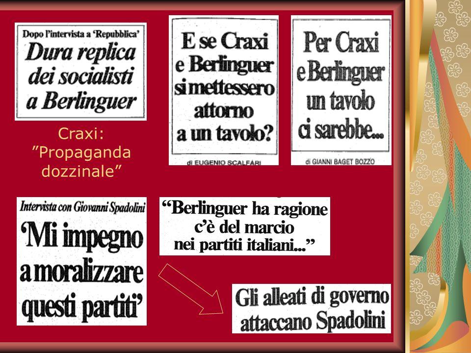 15 Craxi: Propaganda dozzinale