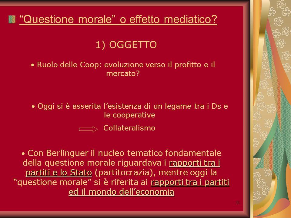 36 Questione morale o effetto mediatico.