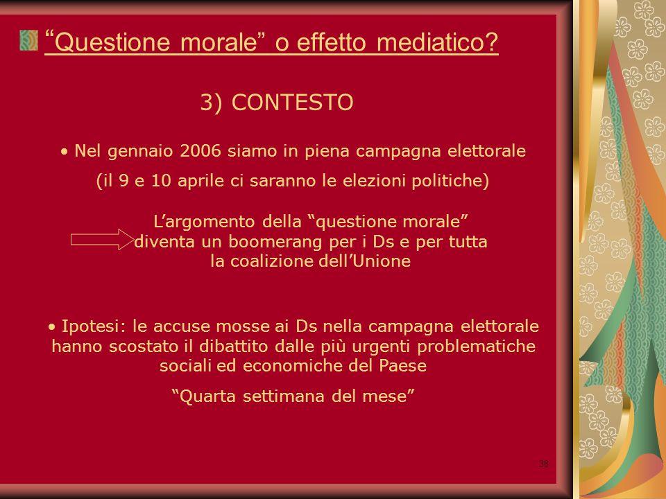 38 Questione morale o effetto mediatico.