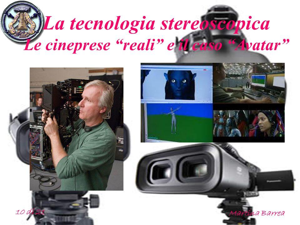 La tecnologia stereoscopica Le cineprese reali e il caso Avatar 10 di 21 Martina Barrea