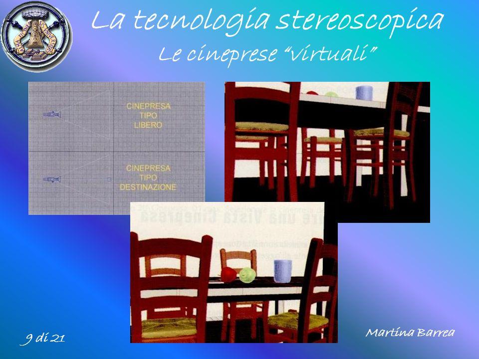 La tecnologia stereoscopica Le cineprese virtuali 9 di 21 Martina Barrea