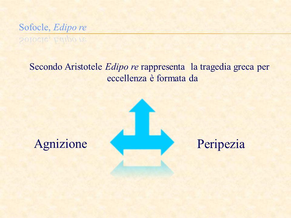 Secondo Aristotele Edipo re rappresenta la tragedia greca per eccellenza è formata da Agnizione Peripezia