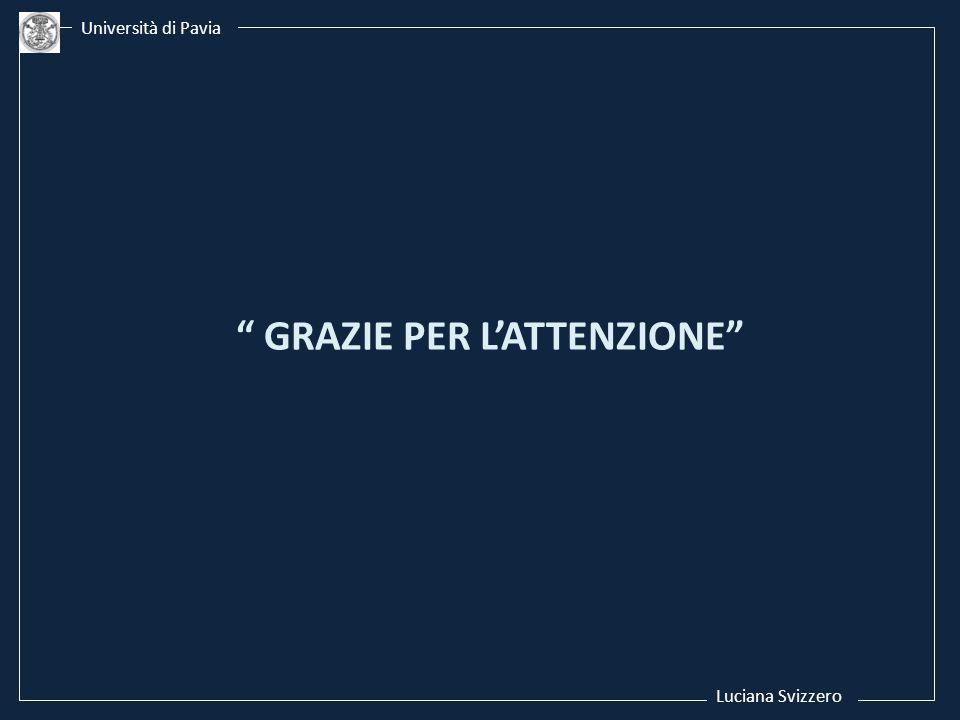 Luciana Svizzero Università di Pavia GRAZIE PER LATTENZIONE
