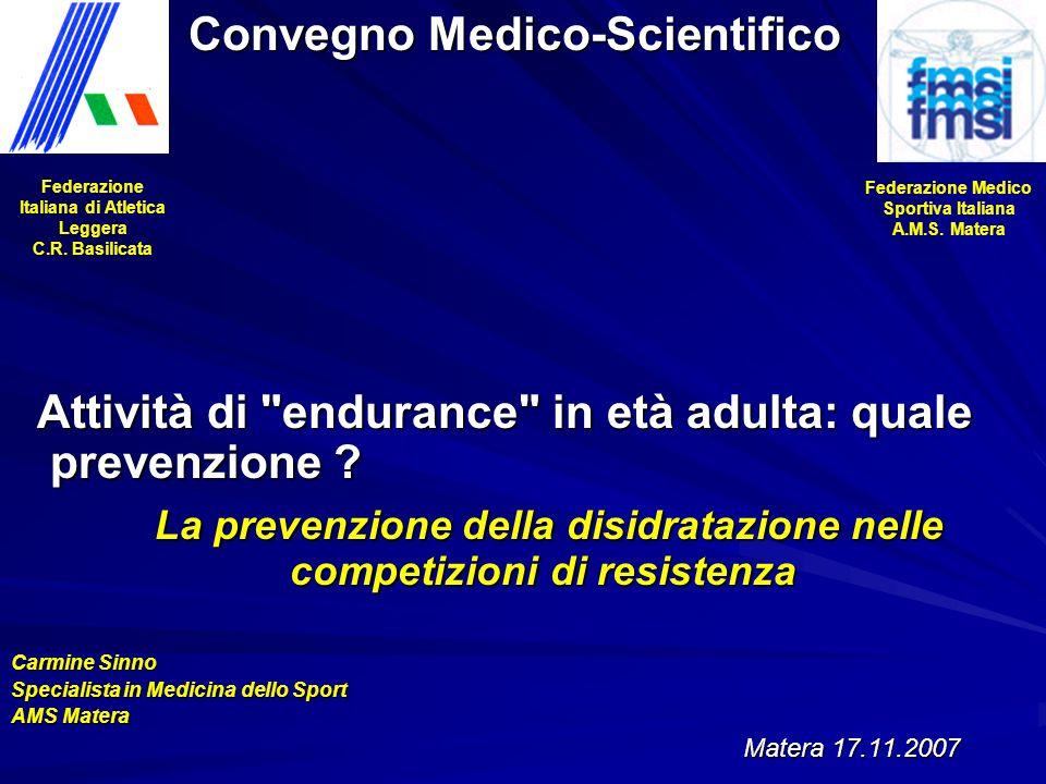 Attività di endurance in età adulta: quale prevenzione .