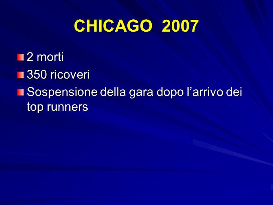 CHICAGO 2007 2 morti 350 ricoveri Sospensione della gara dopo larrivo dei top runners