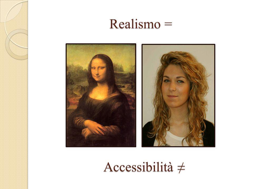 Realismo = Realismo = Accessibilità Accessibilità