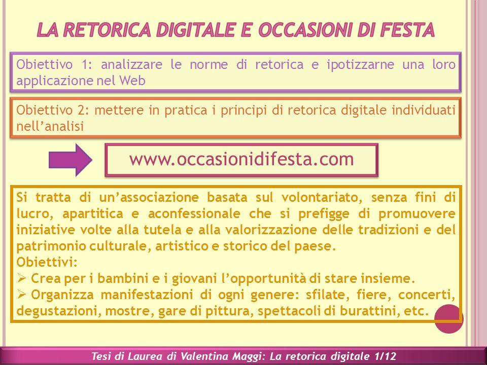 Tesi di Laurea di Valentina Maggi: La retorica digitale 2/12