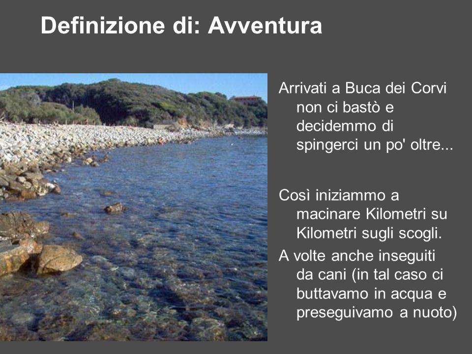 Castiglioncello - Quercianella 11Km In rosso il percorso previsto: in giallo quello effettivamente fatto.