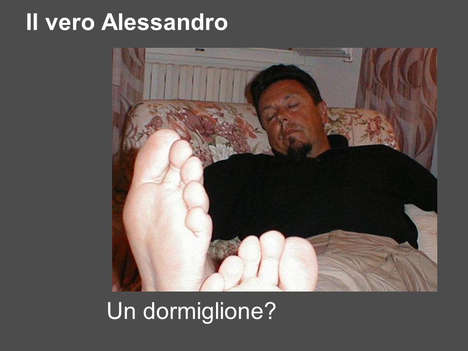 Il vero Alessandro Un dormiglione?