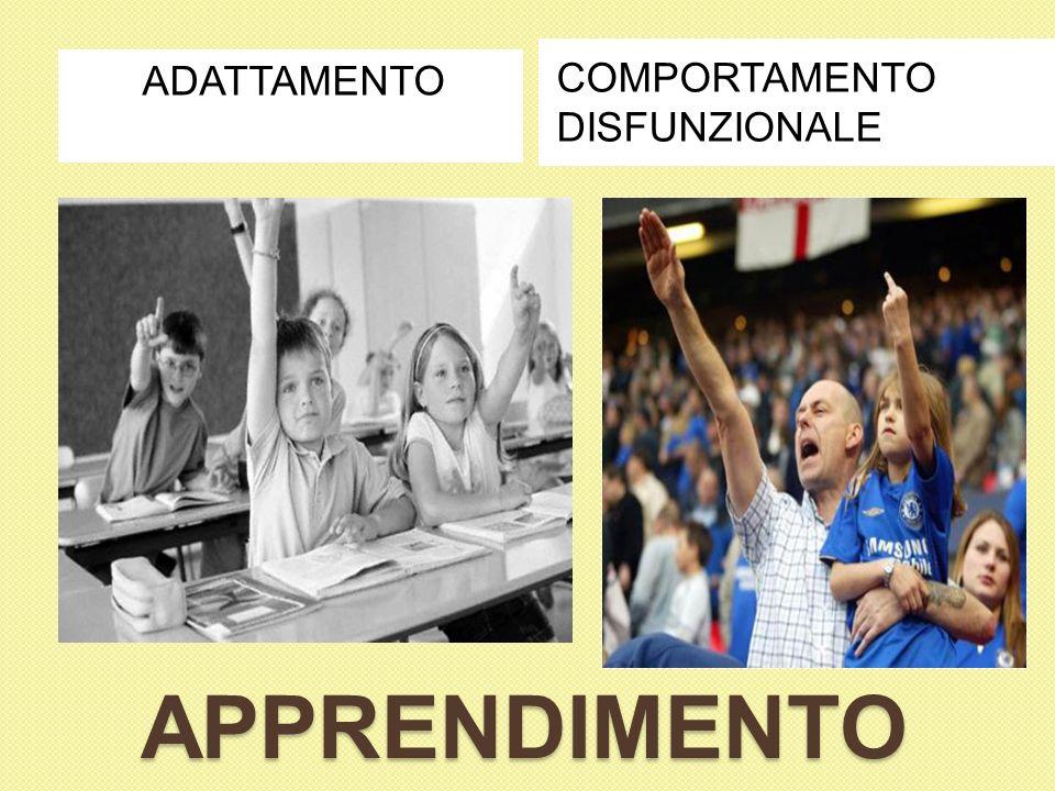 APPRENDIMENTO ADATTAMENTO COMPORTAMENTO DISFUNZIONALE