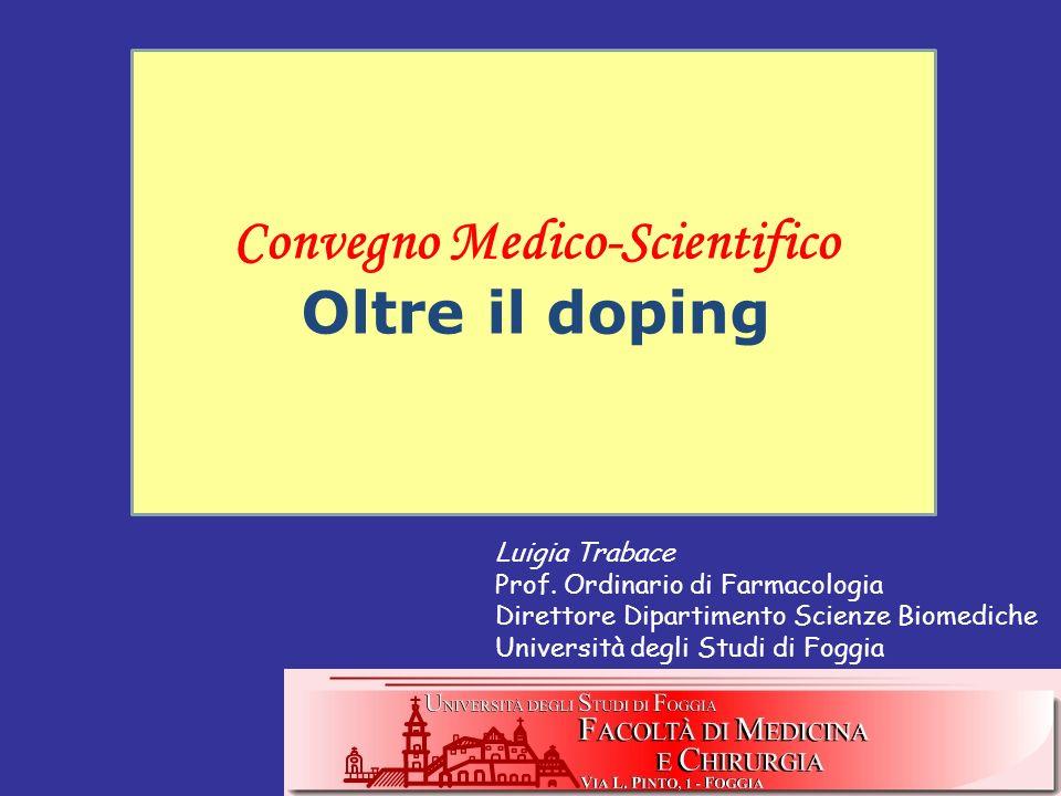 Il consumo di farmaci nella pratica sportiva Medicalizzazione dellatleta Questo uso / abuso di farmaci può essere espresso con un termine specifico