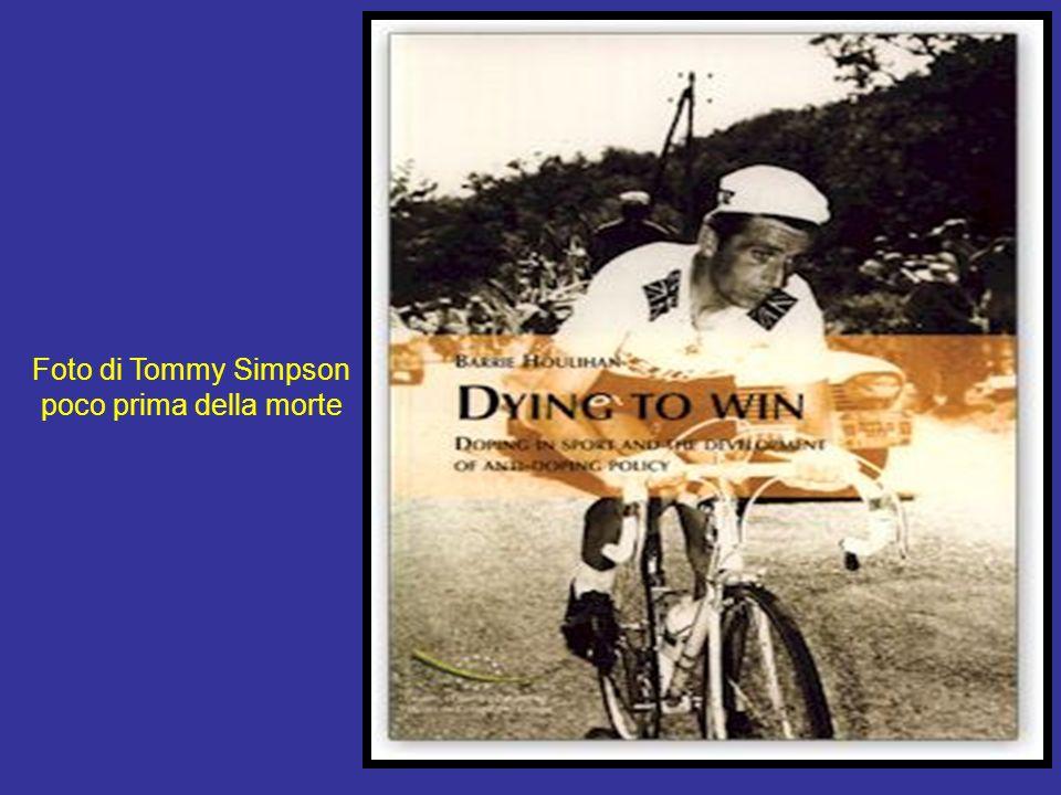Foto di Tommy Simpson poco prima della morte