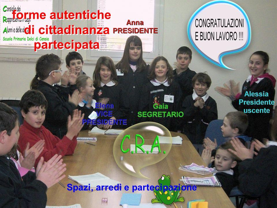 forme autentiche di cittadinanza partecipata Spazi, arredi e partecipazione