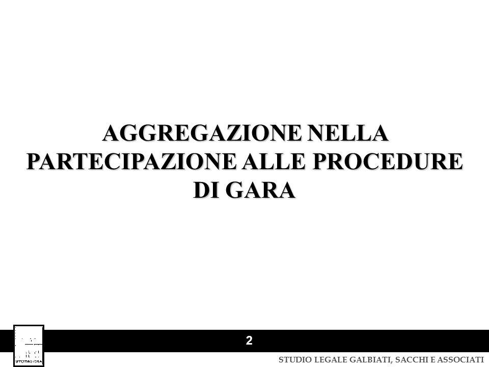 STUDIO LEGALE GALBIATI, SACCHI E ASSOCIATI 3 FORME DI AGGREGAZIONE NEL CODICE Consorzi stabili: art.