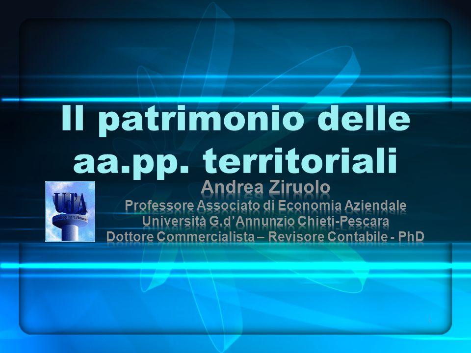 Il patrimonio delle aa.pp. territoriali 1