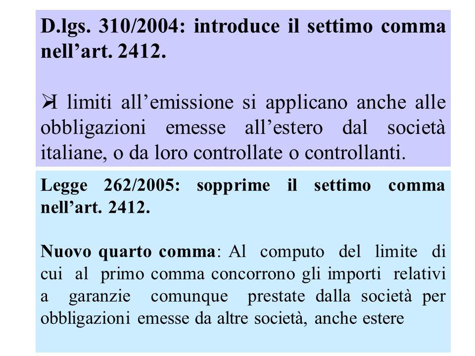 D.lgs. 310/2004: introduce il settimo comma nellart.