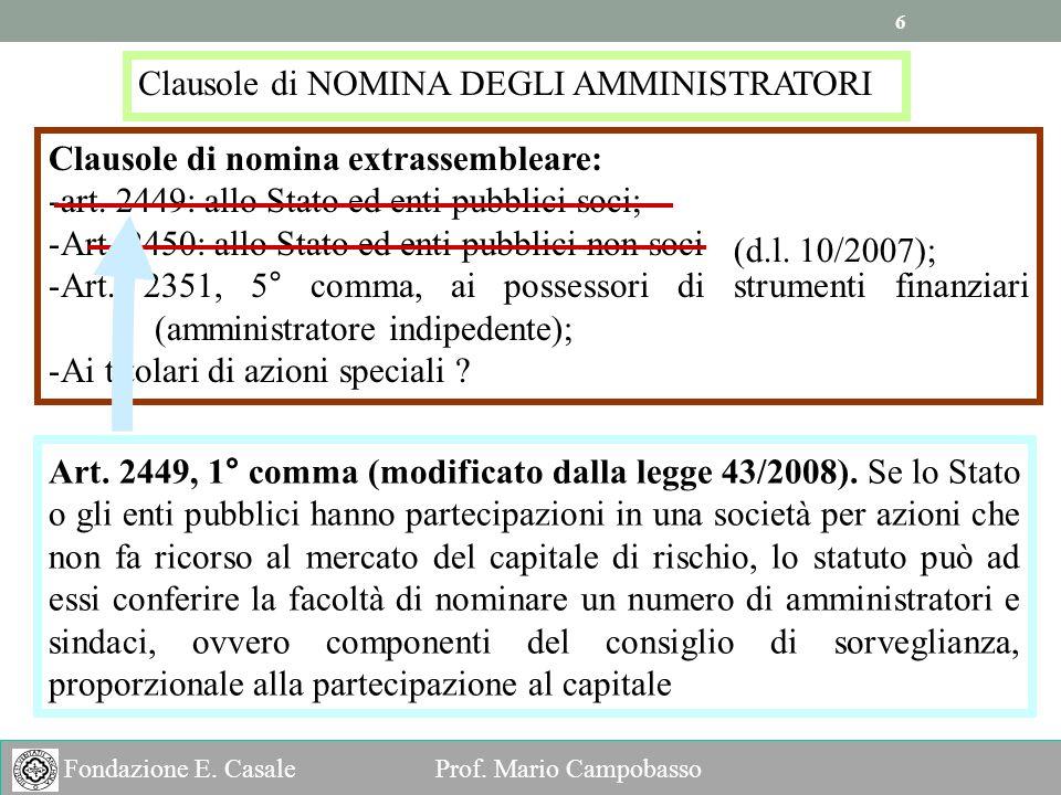 6 6 Fondazione E.Casale Prof.