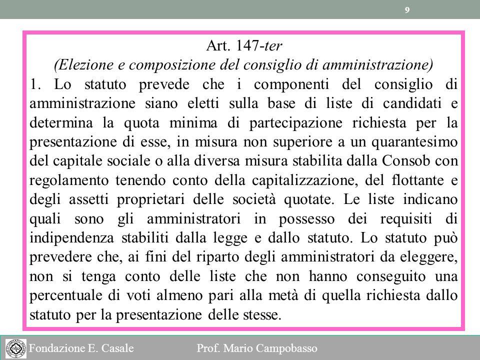9 9 Fondazione E.Casale Prof. Mario Campobasso Art.
