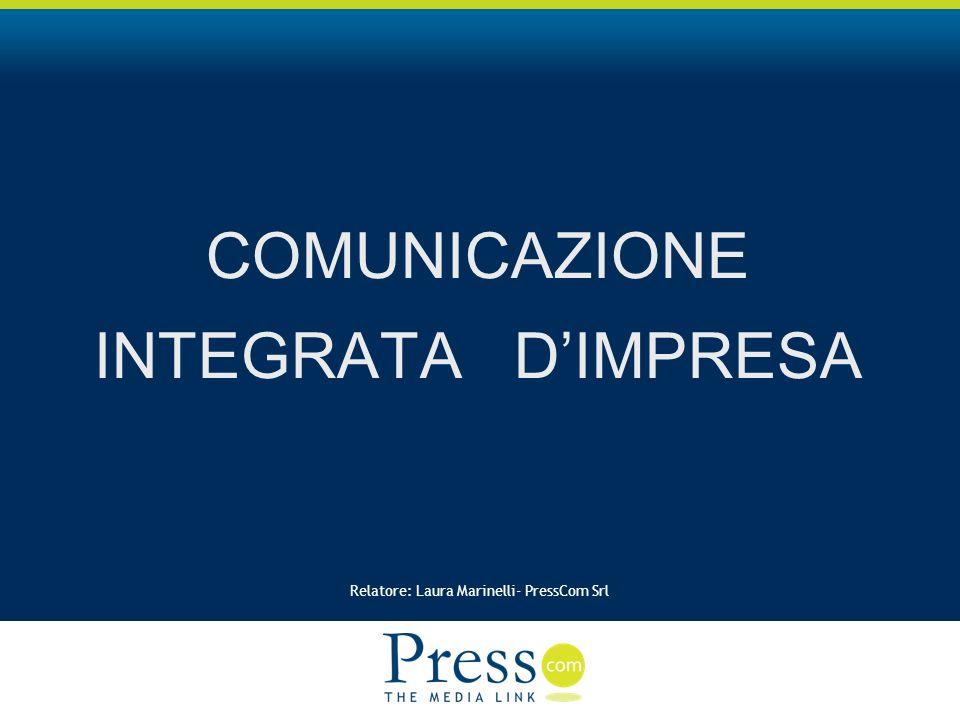 Relatore: Laura Marinelli- PressCom Srl COMUNICAZIONE INTEGRATA DIMPRESA
