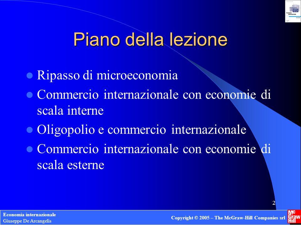 Economia internazionale Giuseppe De Arcangelis Copyright © 2005 – The McGraw-Hill Companies srl 13 Esempio Costo marg.