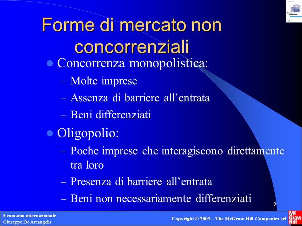 Economia internazionale Giuseppe De Arcangelis Copyright © 2005 – The McGraw-Hill Companies srl 16 Economie esterne e comm.