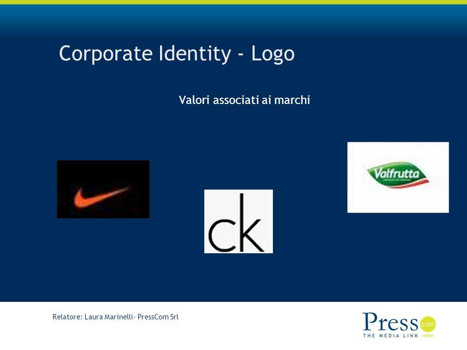 Relatore: Laura Marinelli- PressCom Srl Corporate Identity - Logo Valori associati ai marchi