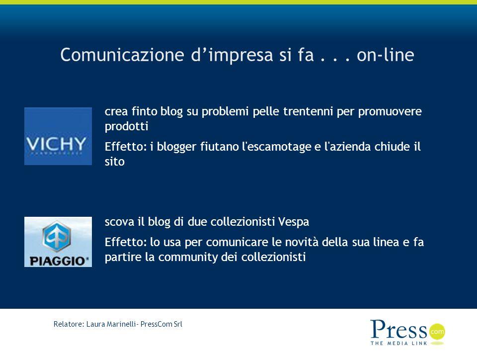 Relatore: Laura Marinelli- PressCom Srl Comunicazione dimpresa si fa...