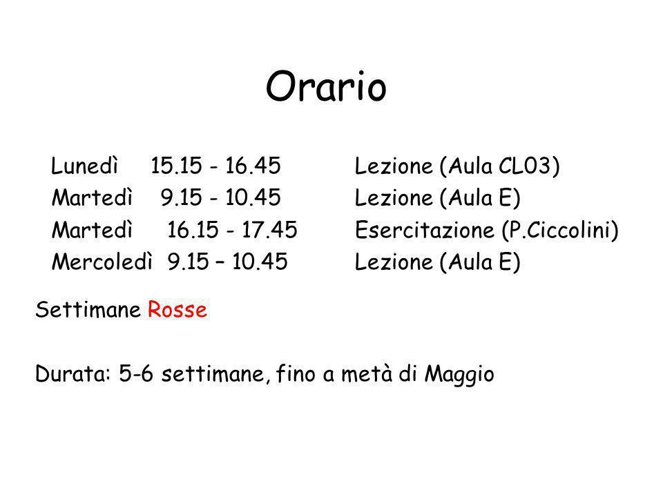 Orario di ricevimento Martedi (rosse) 14.00 – 16.00 oppure debene@unimc.it DIEF V.Crescimbeni 20