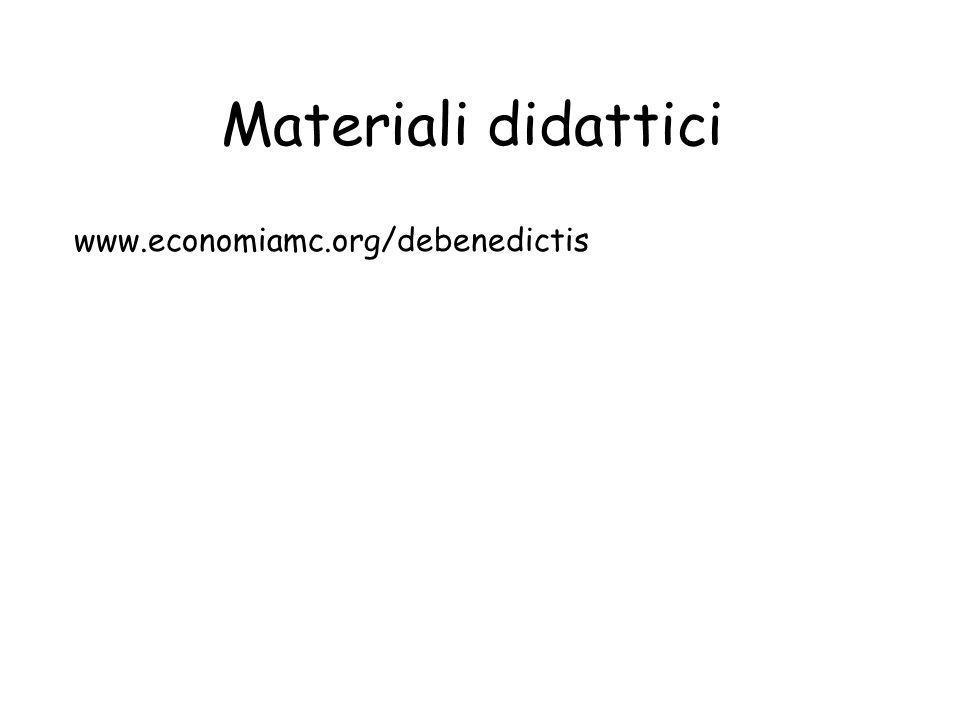 Materiali didattici www.economiamc.org/debenedictis