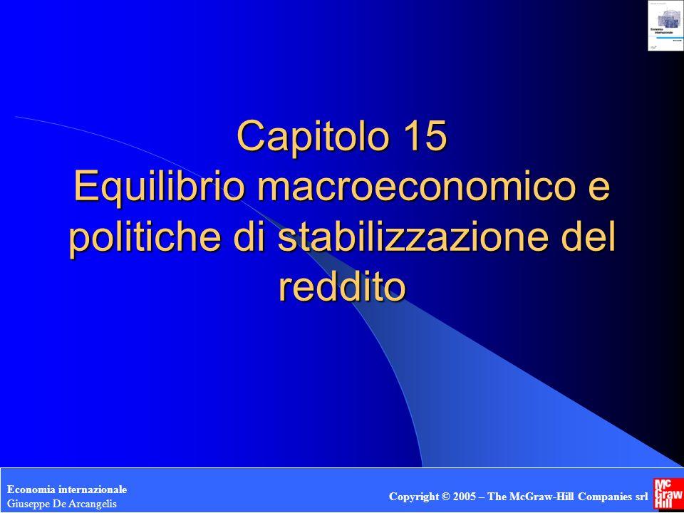Giuseppe De Arcangelis © 2005 1 Capitolo 15 Equilibrio macroeconomico e politiche di stabilizzazione del reddito Economia internazionale Giuseppe De A