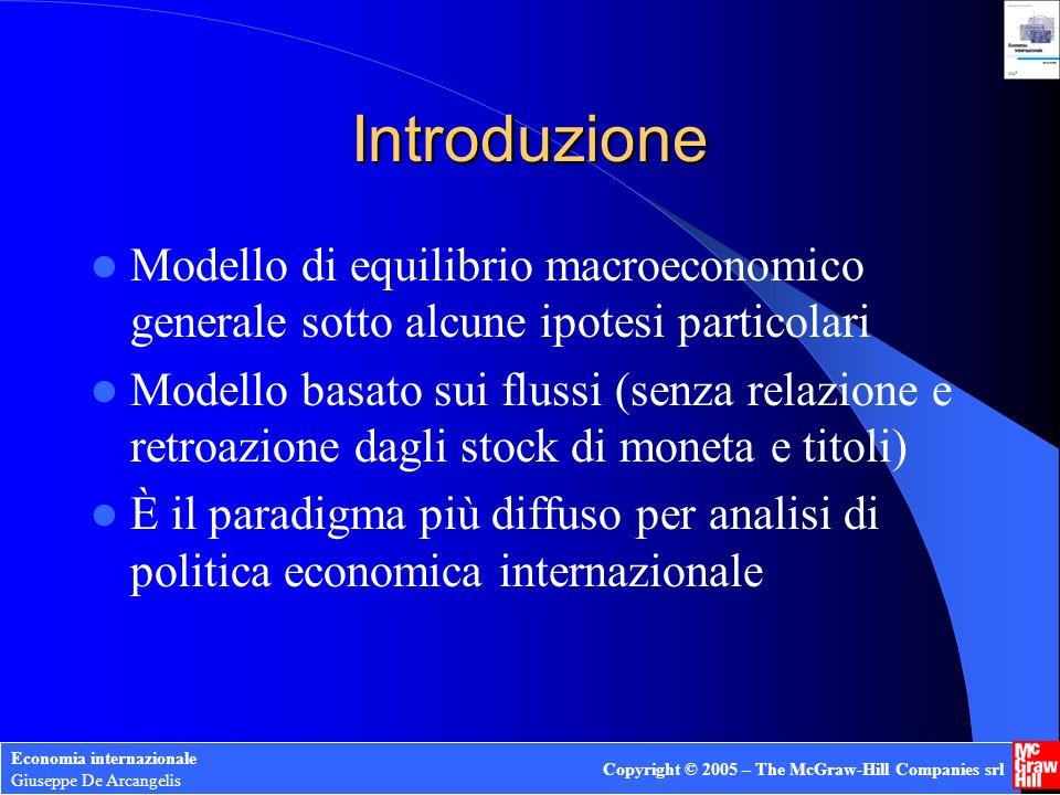 Economia internazionale Giuseppe De Arcangelis Copyright © 2005 – The McGraw-Hill Companies srl Introduzione Modello di equilibrio macroeconomico gene