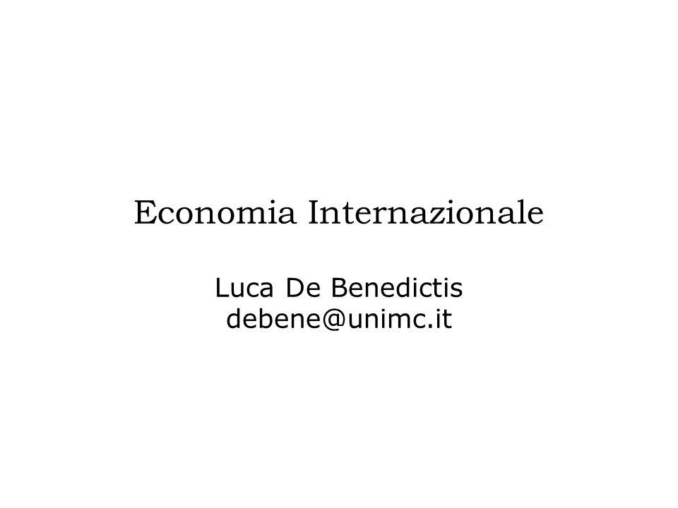 Economia Internazionale Luca De Benedictis debene@unimc.it