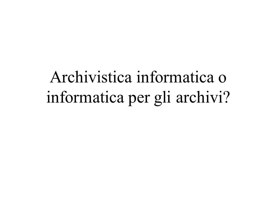 Il ciclo vitale del documento (un modello tradizionale) attivo semiattivo inattivo Archivio corrente Archivio storico Archivio di deposito