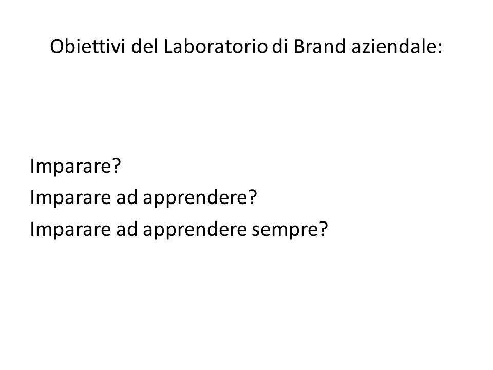 Obiettivi del Laboratorio di Brand aziendale: Imparare.