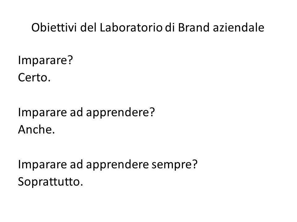 Obiettivi del Laboratorio di Brand aziendale Imparare.